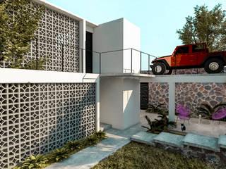 Fachada Casa Naranjo: Casas de estilo moderno por KINI ARQUITECTOS