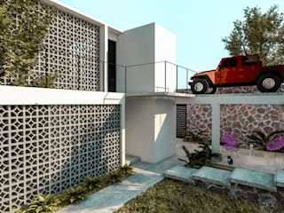 Casa Naranjo: Casas de estilo  por KINI ARQUITECTOS