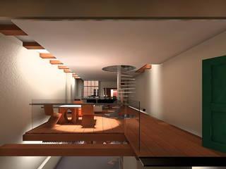 Zitkamer: moderne Eetkamer door Hugo Caron Architecten bna