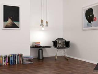 Canto de Leitura Quartos minimalistas por DiogoDantas Studio 3D & Design Minimalista