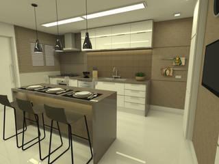 Charmoso apartamento nos Jardins: Cozinhas  por Noemi Lima Design,Moderno