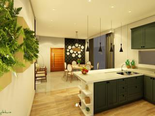 Residência Patrício : Salas de jantar  por Oliveira Arquitetura,Moderno