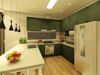 Cocinas de estilo  por Oliveira Arquitetura,