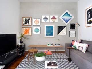Apartamento Barsotti: Salas de estar  por Tripper Arquitetura,Moderno