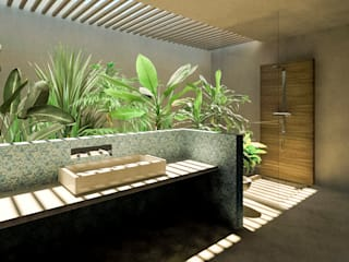 Baño Principal:  de estilo  por KINI ARQUITECTOS