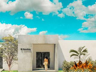 Casa Patio El Cascalote:  de estilo  por KINI ARQUITECTOS
