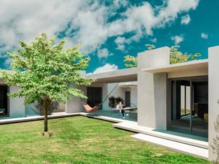 Acceso Casa Cascalote:  de estilo  por KINI ARQUITECTOS