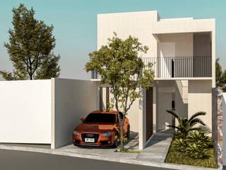 Fachada Principal: Casas de estilo moderno por KINI ARQUITECTOS