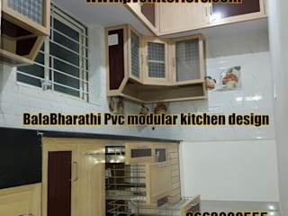 balabharathi pvc interior design KitchenCabinets & shelves Wood effect