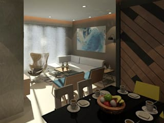 Talreja Residence:  Living room by Ramnani & Associates