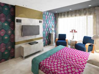 Sheth Residence Modern style bedroom by Ramnani & Associates Modern