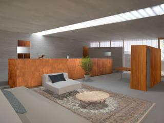 素材の美しさを活かした夫婦の住まい 邑楽の家 House in ora モダンデザインの リビング の 平野崇建築設計事務所 TAKASHI HIRANO ARCHITECTS モダン