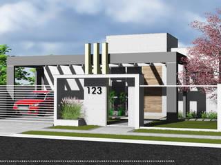 Residência Unifamiliar: Casas  por AP ARQUITETURA,Moderno