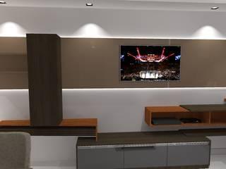 Apartamento AQ: Salas de estar  por Diego Emmanuel Arquitetura,Moderno