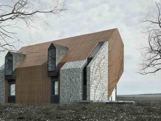 Dom Drewno+: styl , w kategorii Domy zaprojektowany przez ZA-ARCHITEKT