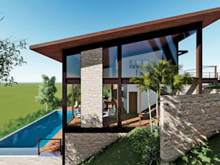 Tropical style houses by Aresto Arquitetura Tropical