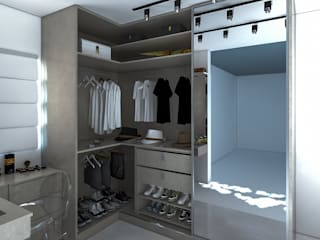 Secato Arquitetura e Interiores Yatak OdasıElbise Dolabı & Komodinler