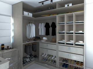 Apto de 62m² Secato Arquitetura e Interiores Quartos modernos