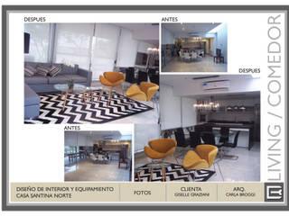 Decoracion Interior Vivienda Barrio cerrado Livings modernos: Ideas, imágenes y decoración de Arq. Carla Broggi Moderno