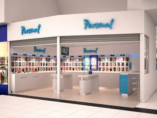Local Comercial de Telefonia Galerías y espacios comerciales de estilo moderno de Arq. Carla Broggi Moderno