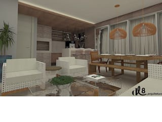 Modern style balcony, porch & terrace by dl8 Arquitetura Modern