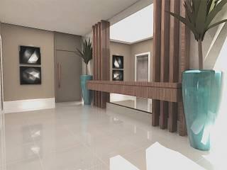 Pasillos, vestíbulos y escaleras de estilo moderno de dl8 Arquitetura Moderno