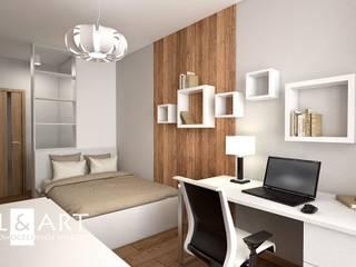 Nasze Przykładowe Projekty Wnętrz: styl , w kategorii  zaprojektowany przez Miliart Studio Milena Wójtowicz Projektowanie Wnętrz Lublin