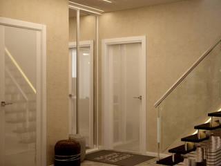 Minimalistischer Flur, Diele & Treppenhaus von Студия интерьерного дизайна happy.design Minimalistisch