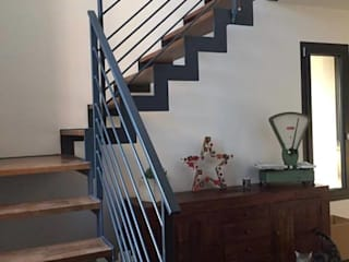 escalier a cremaillere metallerie swiatek Couloir, entrée, escaliersEscaliers Gris