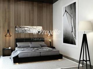 Спальня в аппартаментах Москва Сити: Спальни в . Автор – il-progetto