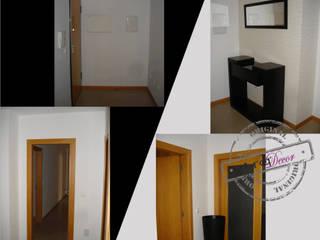 Um projecto à medida... Corredores, halls e escadas modernos por ArqDecor Moderno