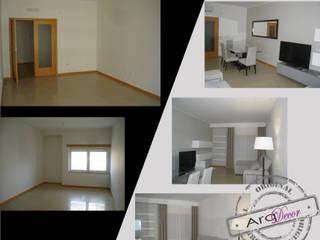 Um projecto à medida... Salas de estar modernas por ArqDecor Moderno