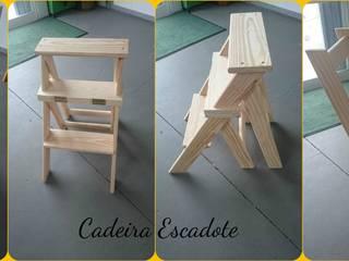 Cadeira Escadote por Vassourinha Rústica Rústico