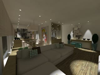 PROJETO L|T Salas de jantar modernas por Studio 3.2 Arquitetura + Interiores Moderno