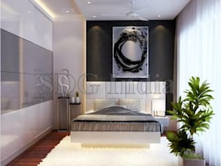 Interiors:  Bedroom by Space Design Group