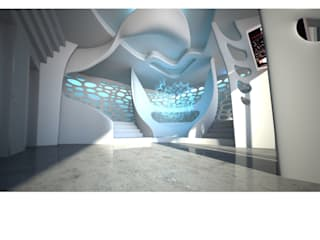 Pharmacy Gate 4D - Eingangshalle ABBOTT Deutschland Moderne Bürogebäude von Peter Stasek Architects - Corporate Architecture Modern