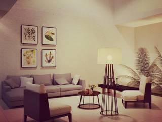 INTERIOR SALA CHUBURNA : Salas de estilo moderno por Ar.Co