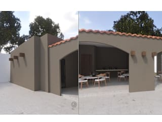 FACHADA, VER VISTA DE 360° EN LINK: Casas de estilo colonial por Ar.Co