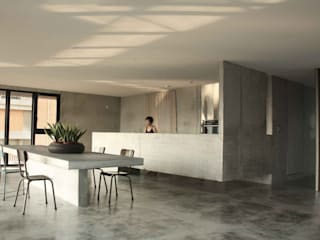 Nhà bếp phong cách tối giản bởi 本晴設計 Tối giản