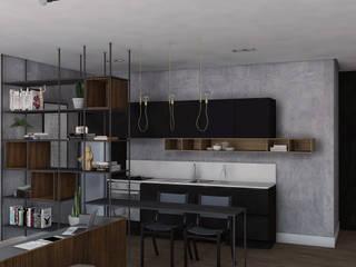 Loft 1403 Cozinhas modernas por Plurale Arquitetura Moderno