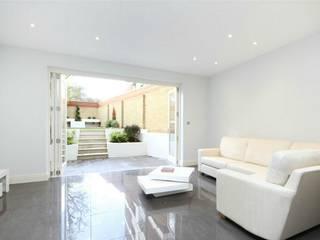 Hammersmith Grove, London, W6 Modern Living Room by APT Renovation Ltd Modern