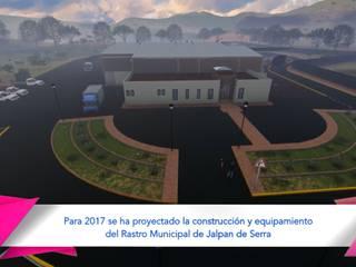 Modelado y animación Rastro Municipal Jalpan:  de estilo  por VB Arquitectos