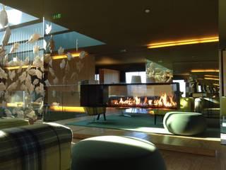 Hotel Monte Verde - Lixa - Amarante Corredores, halls e escadas modernos por IMPORCHAMA, FOGÕES DE SALA LDª Moderno