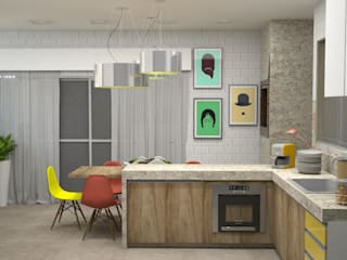 Reforma de Cobertura no Bairro Nova Suissa BH Cozinhas modernas por Jaqueline Sousa Arquitetura & Design Moderno