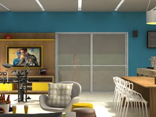 Área Gourmet Varandas, alpendres e terraços modernos por Jaqueline Sousa Arquitetura & Design Moderno