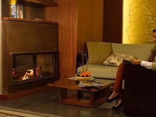 Lareira personalizada Hotel Terra Nostra - Açores por IMPORCHAMA, FOGÕES DE SALA LDª Moderno