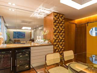 Apartamento Bairro Lourdes - BH/MG Salas de jantar modernas por Mímesis Arquitetura e Interiores Moderno