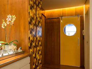 Mímesis Arquitetura e Interiores Modern dining room Wood effect