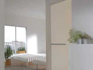 27号棟のリノベーション apartment renovation No.27 モダンスタイルの寝室 の 平野崇建築設計事務所 TAKASHI HIRANO ARCHITECTS モダン