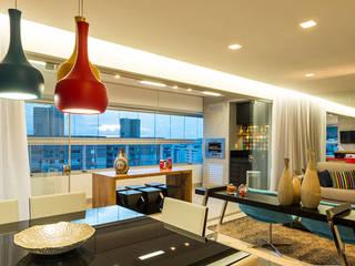 Apartamento Bairro Buritis - BH/MG Salas de estar modernas por Mímesis Arquitetura e Interiores Moderno